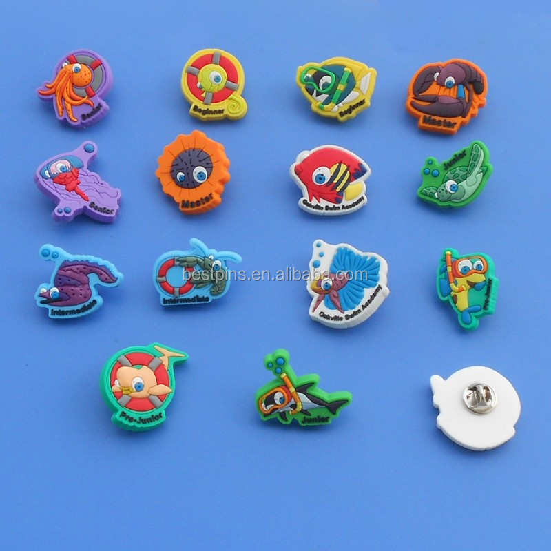 Wholesale soft pvc circus/cartoon girl badge/lapel pin
