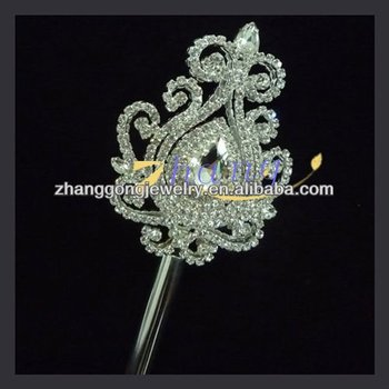 beauty rhinestone scepter