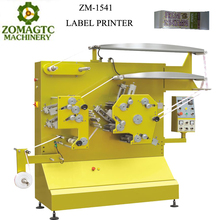 China cheap price high speed 4+1 colours color garment label printer printing machine for sale