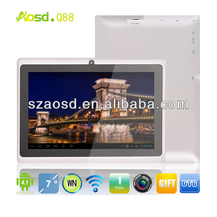 Promotional Firmware Android 4.0 Tablet Atm7021 dual core Q88