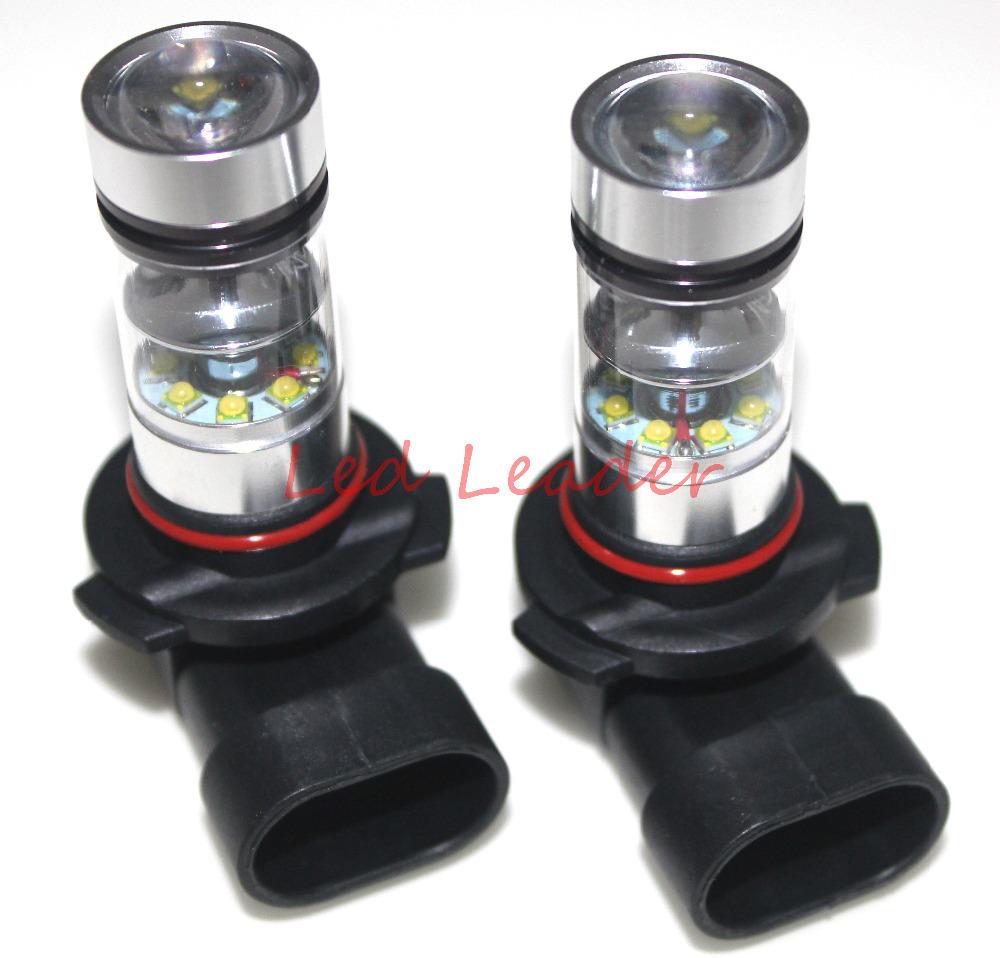 2x 9005 HB3 H10 6000K 100W LED Cree Projector Fog Driving Light Bulb FR