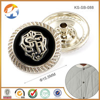 Wholesale Decorative Metal Snap Button Jewelry Covers For Clothing