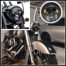 "5.75"" Round LED Headlight /DRL/Car Styling LED Light 40W Hi/Lo Beam motorcycle led driving light Headlight for Harley"