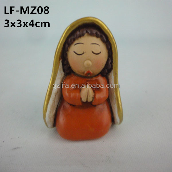 Mini polyresin catholic religious Our Lady items