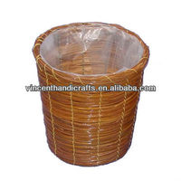 Fern litter basket with plastic liner