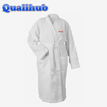 100%cotton terry kimono collar adult bathrobes