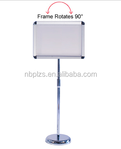 Snap Frame Display Stand free floor standing adjustable menu holder
