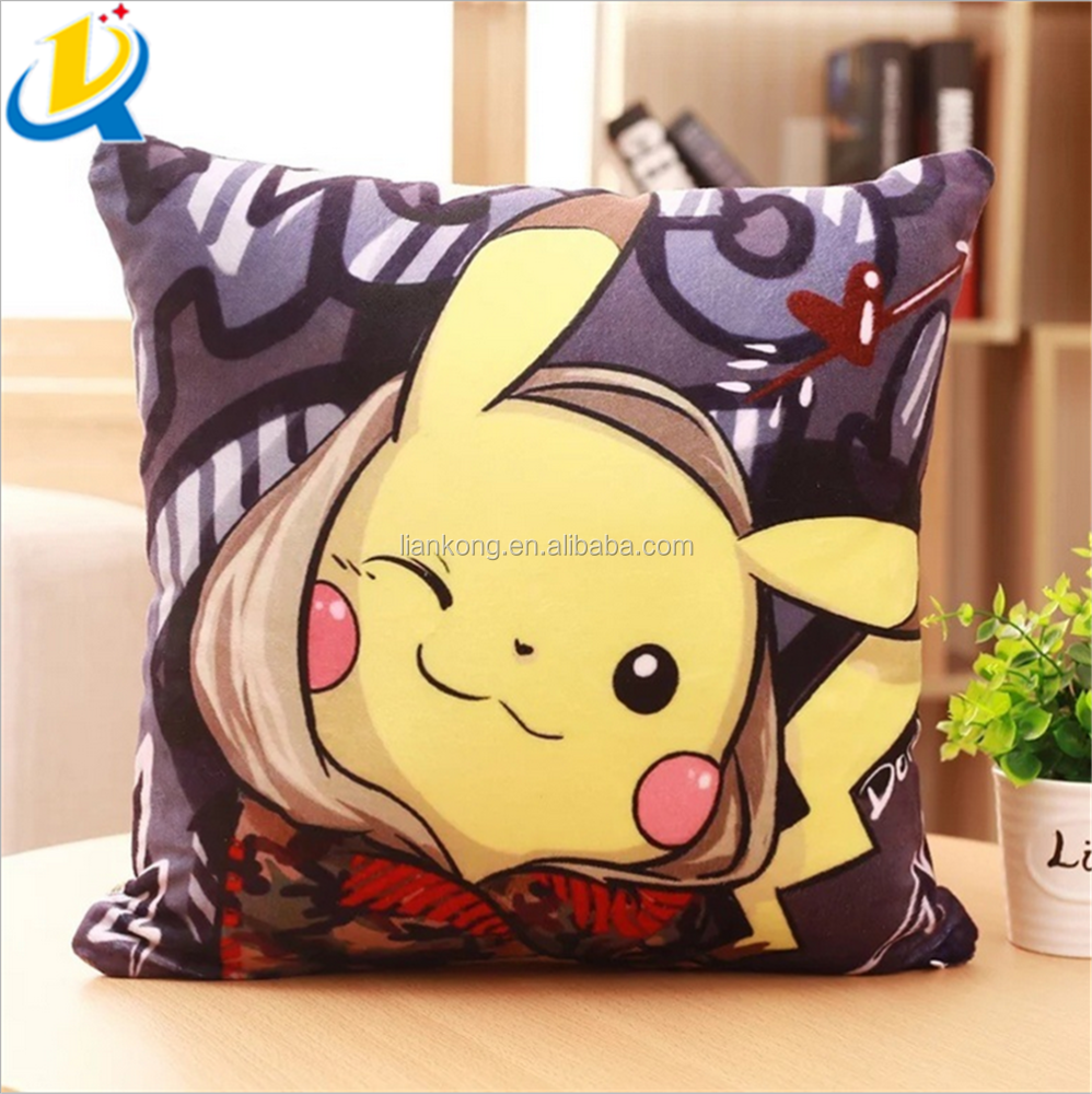 Top sale good quality stuffed pp cotton filling soft funny pokemon pillow
