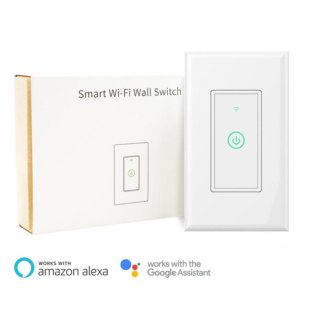 Smart Wifi Wall Light Switch Works With Alexa Echo Google Assistant