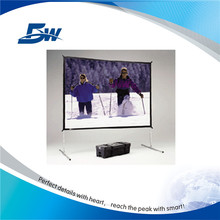 BW Curved Projection Screen/Quick Folding Projector Screen/Outdoor Fast Fold Screen