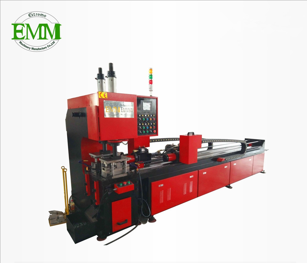 EMM60 tube piercing hydraulic pipe metal punching machine