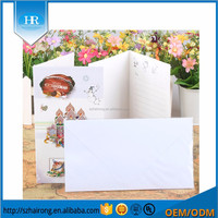 Wholesale decorated glitter christmas folding blank greeting cards with envelope