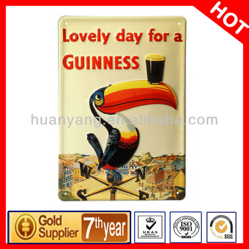 Guinness Weather Vane large embossed wall sign