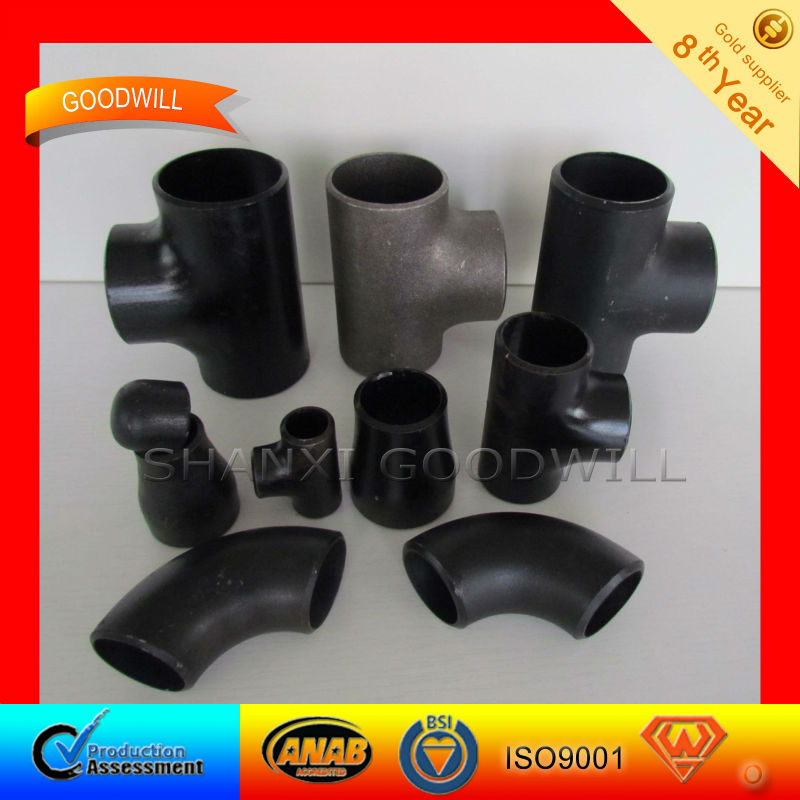 STD/XS/SCH20-160 carbon steel pipe fittings--SHANXI GOODWLL