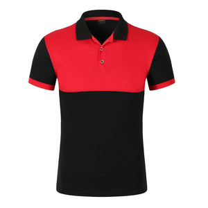 custom design pique patchwork polo t shirt knitted clothing factory in China