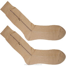 Custom thin mens 100 percent mercerized cotton socks with logo