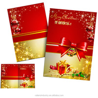 Popular Fashion Wholesale Customized Handmade Paper Santa Claus Christmas Gift Greeting Cards Design