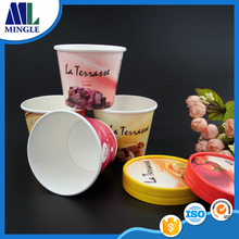 Disposable custom printed ice cream paper cups disposable container