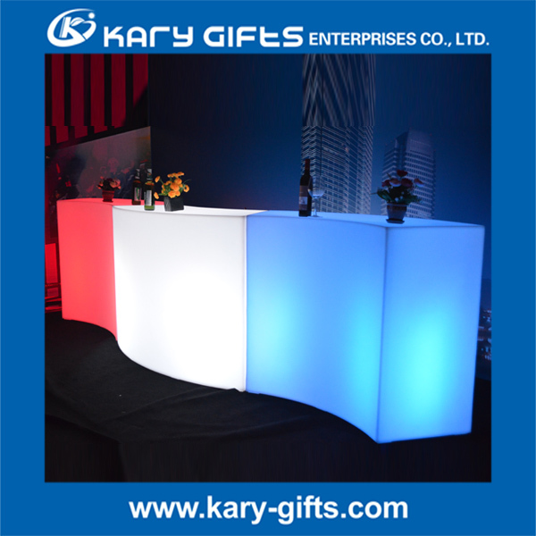 2016 New Design Waterproof Event LED Glow Bar Furniture Led bar counter