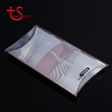 Custom personalized clear plastic pillow hair extension packaging boxes