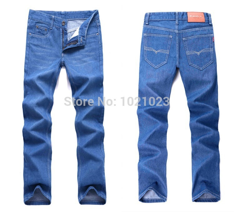 2015 Light Blue Jeans Male Brand Famous Italian Designer Fashion New Men'S Stretch Jeans HY-608
