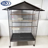Wholesale cheap price african grey play metal parrot cage with roof
