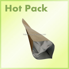 kraft paper bag for beef jerky / 500g eco friendly kraft paper bag