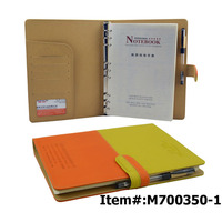 Beautiful Uk Agenda Pu Cover A4 Leather Organizer Notebook