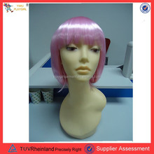 PGWG-0146 2015 Hot Selling Women Cosplay Wig Fancy Synthetic Party pink Wigs