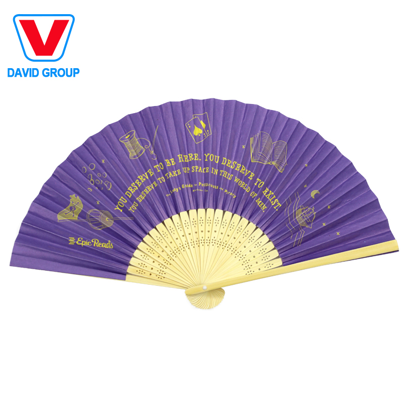Custom Printed Bamboo Folding Hand Paper Fan for <strong>Promotion</strong>