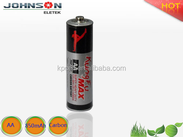 2016 hot sale powerful environmental aa battery r6p 1.5v