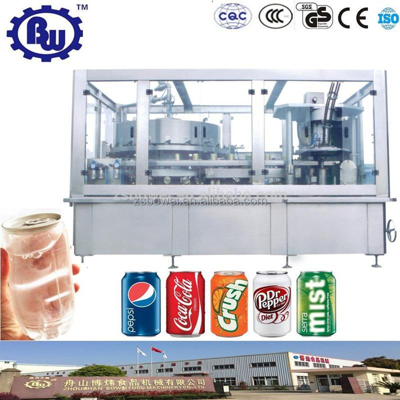 Manufacturer Price CE Automatic Carbonate Drink Can Filling Machine