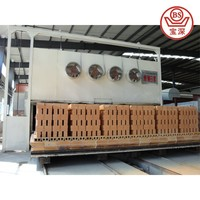 lower price clay brick assemble tunnel kiln