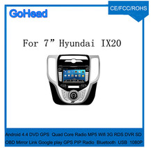 For Hyundai IX20 Car DVD players with GPS Navigation Quad Core Radio MP3 MP5 player Wifi 3G RDS DVR OBD Mirror Link