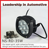 NSSC NEWEST Auto 9-32v 35W led work lamp, oval led tractor work light