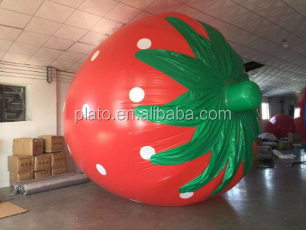 Factory Price Giant Inflatable Strawberry Fruit Model for Sale