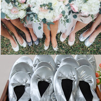 Wedding Folding Shoes Foldable Flats Wedding