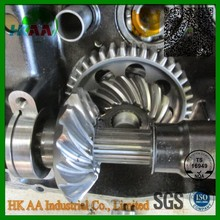 Custom precision TS16949 standard gear set supplier, hardened steel differential spiral bevel gears for auto spare parts