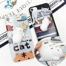 3D soft silicone squishy cell phone case calorful cartoon phone case