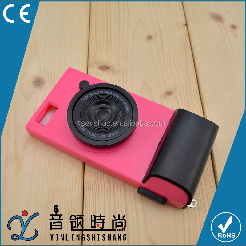 China Phone Accessory Wholesale 3D Camera Lens Style Hard PC Cell Phone Case For iPhone 6 6s