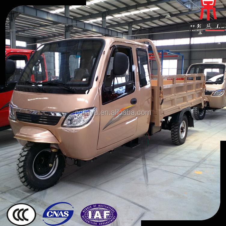 800cc Heavy Duty Cargo 3 Wheel Tricycle With Closed Cabin