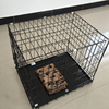 "48"" Folding Suitcase Dog Crate Pet Cage Cat Kennel With Metal Pan"