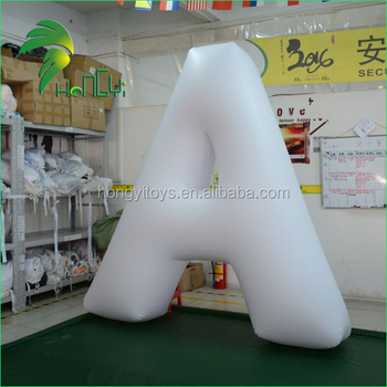 Outdoor Advertising Decorative Inflatable Letters/ Promotional LED Light Up Alphabet Letter Model