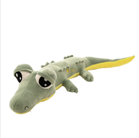 Hot selling cute loggy big eye green crocodile plush toy kids gift toys for children