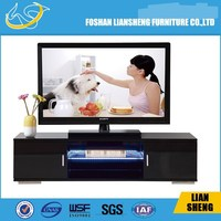Wholesale modern TV table, TV wall unit #TV006 with led light design