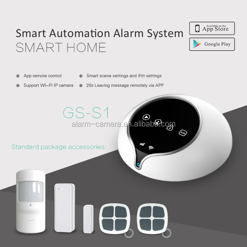 Golden Security GSM alarm system support home automation gsm alarm system with wifi ip camera alarm system