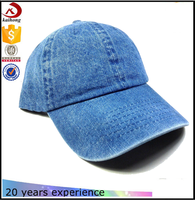 2017 new baseball caps wholesale plain denim dad hat