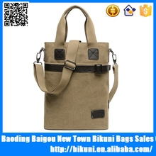 High quality fashion casual bag crossbody canvas tote messenger shoulder bags for men