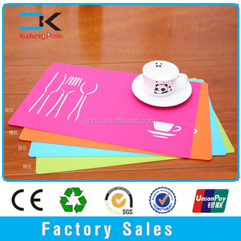 Recyclable !!Plastic PP kids dining disposable harman placemats
