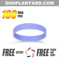 advertising neon wristband silicone custom